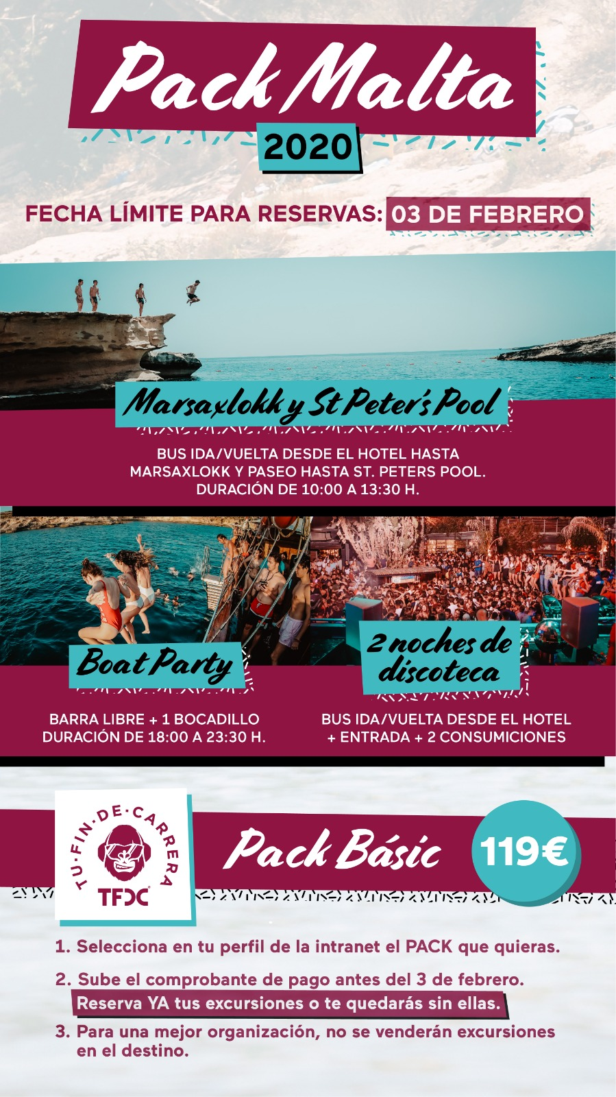 Packs de excursiones en Malta